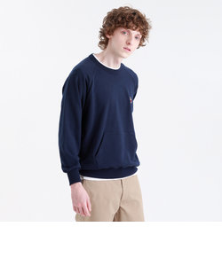 【BUCKINGHAM BEAR】クルーネックワンポイント スウェットシャツ