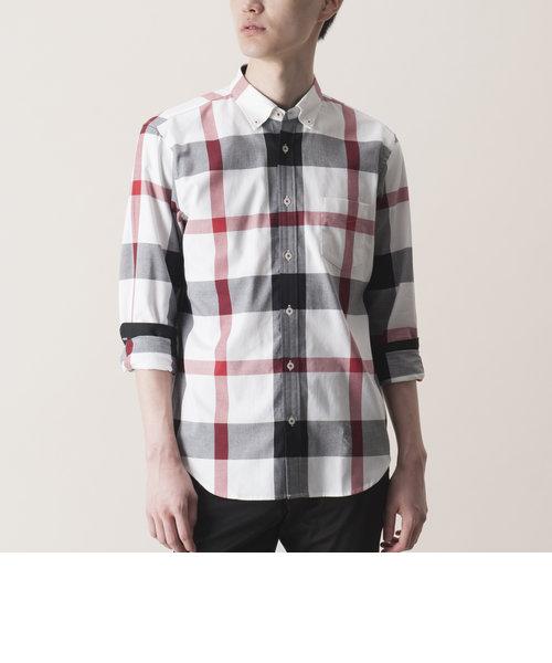 ロイヤルオックスクレストブリッジチェックシャツ