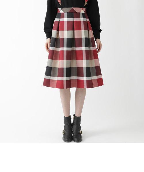 クレストブリッジチェックグログランプリントスカート