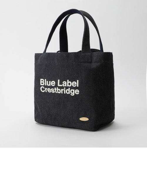 ロゴプリント巾着ミニトートバッグ