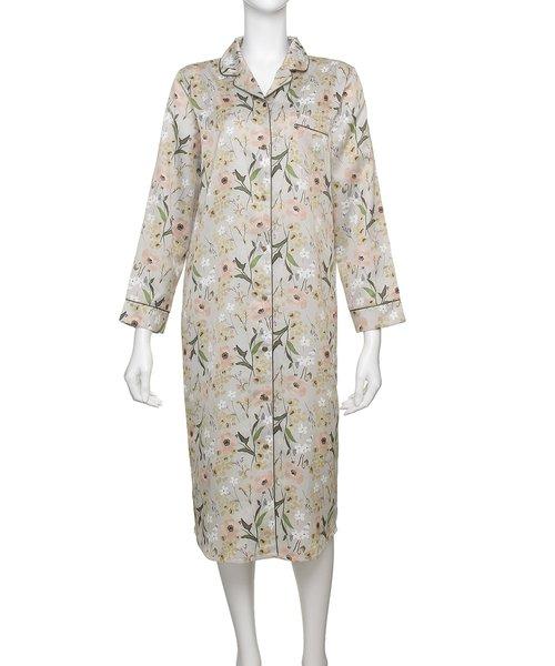 【パジャマ・ルームウェア】 コットンサテン パジャマ ドレス [BMコラボ] (C282)