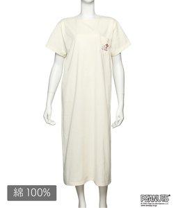 【パジャマ・ルームウェア】 ピーナッツ Tシャツ ドレス (C308)スヌーピー