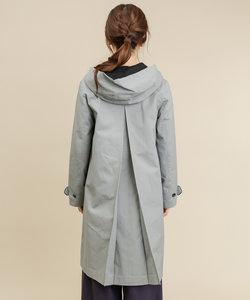 綿起毛配色フード付コート
