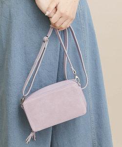 【Beau're】スエード×レザーお財布機能付きショルダーバッグ