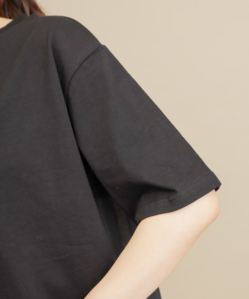 バックプリーツビッグTシャツ