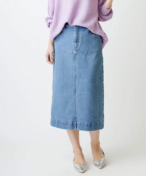 ストレッチタイトデニムスカート