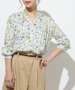 リバティプリントスキッパーシャツ
