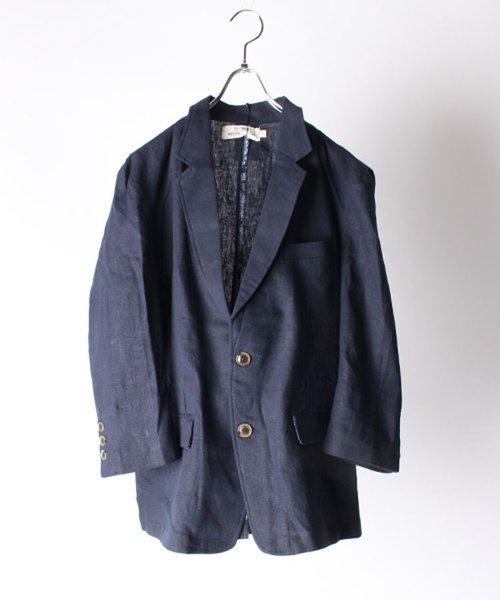 リネン7分袖テーラードジャケット