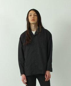 ストレッチTR素材 オープンカラー長袖シャツ / ナノテック加工