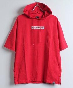 バックBIGロゴ半袖T-パーカー