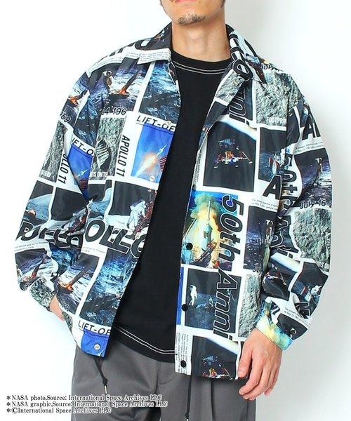 【NASA × B ONE SOUL】フォトグラフィックコーチジャケット