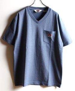 BEN DAVIS/Vネック ピスネームポケット半袖Tシャツ