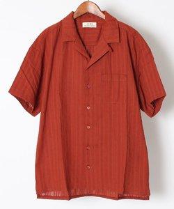 ドビードロップショルダーオープンカラー半袖シャツ