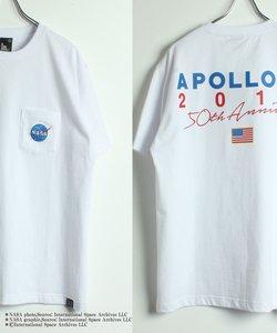 【NASA × B ONE SOUL 】ポケット刺繍半袖Tシャツ