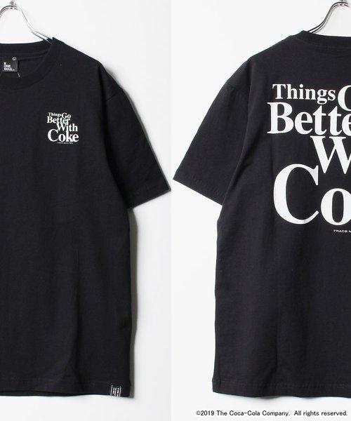 Coca-Cola by B ONE SOUL / 60's ロゴ プリント コカ・コーラ  半袖 Tシャツ