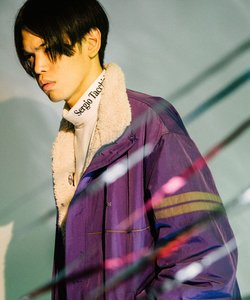 【 SERGIO TACCHINI(セルジオタッキーニ) 】ロゴ刺繍 モックネックロンT