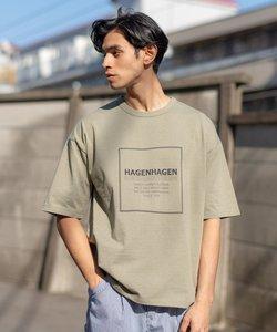 ≪WEB限定≫ HAGEN HAGEN / RECOVER ビッグシルエット ロゴプリント 天竺 半袖Tシャツ