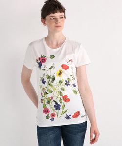 floral print Tシャツ