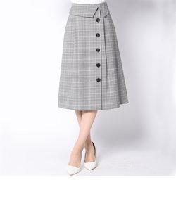 スプリングチェックボタン使いスカート