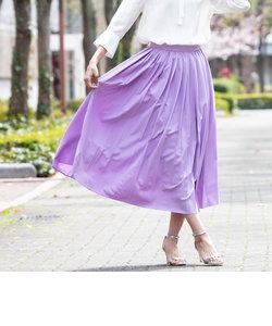【WEB別注カラーあり】洗えるウエストゴムプリーツスカート