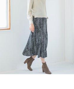 ハートレオパードプリントスカート