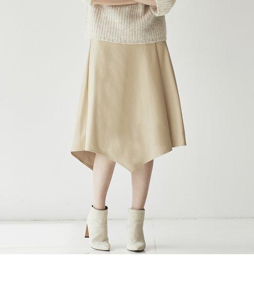 フェイクレザースカート