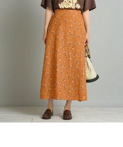 ダークフラワープリントスカート