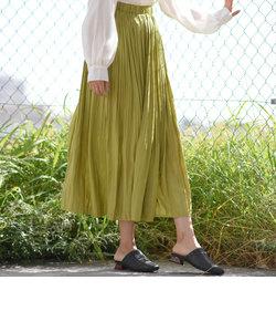 【2020SS新作カラー】シャイニープリーツスカート