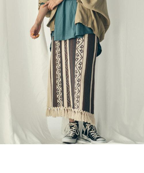 ガラアミフリンジスカート