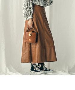 【Willful by lipstar】エコレザーAラインスカート