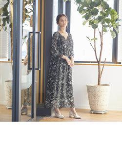 《大草直子さんコラボ【OWN】4th Collection》ボタニカルプリントワンピース