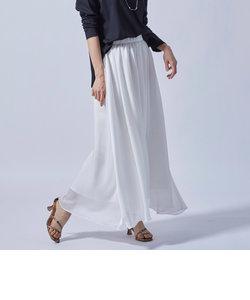 ヘムラインのエアリーギャザースカート