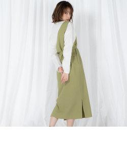 【2点セット】アシメスカート×メッシュニットセット