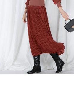 ピーチサテンプリーツスカート