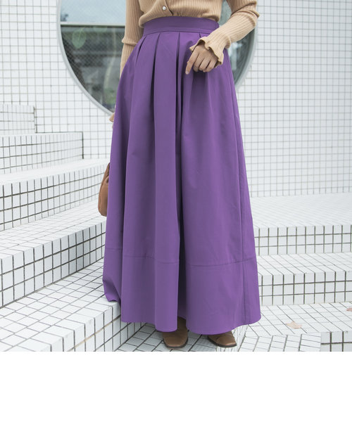 《洗濯機で洗える》カラーボリュームフレアスカート