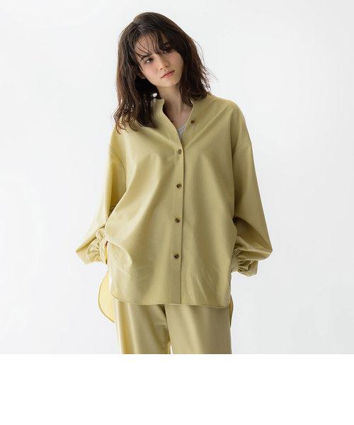 【雑誌掲載】TRポプリンバンドカラーシャツ