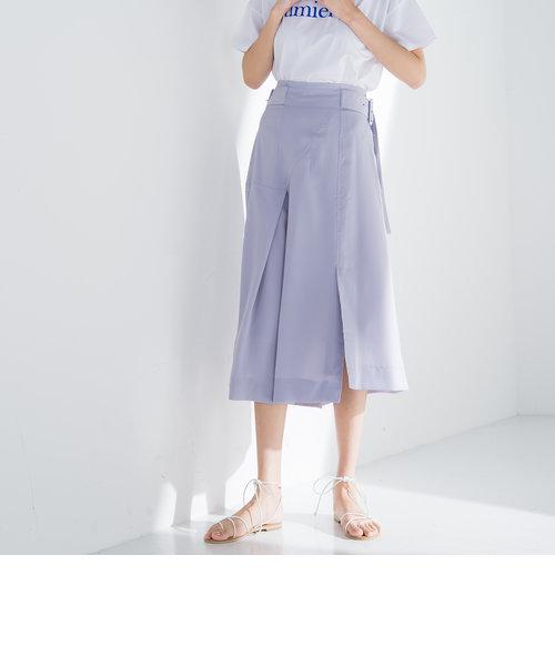 【socolla】イレギュラーヘムベルテッドスカート