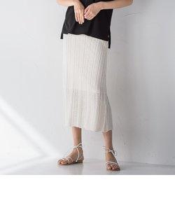 【socolla】透かし編みニットスカート