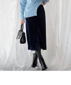 【WEB別注】バックルベロアタイトスカート