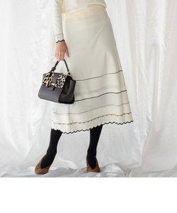【WEB別注】ニットアップ透かし編みスカート