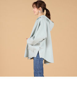【WEBカラー別注】フード付マントジャケット