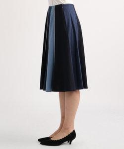YD配色フレア スカート