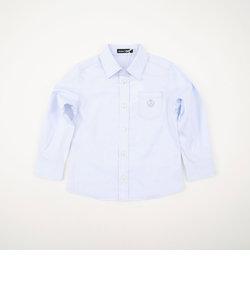 ポケット刺繍オックスシャツ