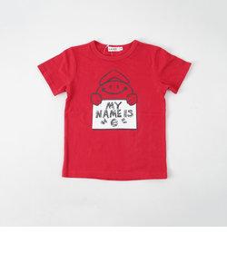 eくんネームボードプリントTシャツ