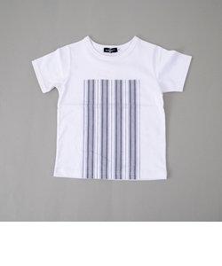 【カタログ掲載】天竺切替ロゴプリントTシャツ