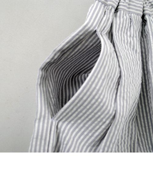 【カタログ掲載】サッカーストライプタックギャザースカート