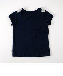 天竺ショルダーリボンTシャツ