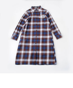 【ニコプチ掲載】ネルチェックロングシャツ