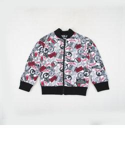 ミニ裏毛ワッペンプリントショートジャケット