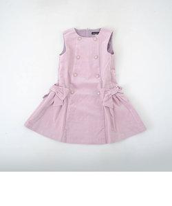 リブレスコールリボンジャンパースカート